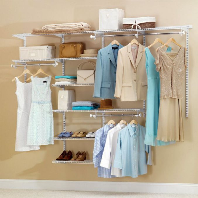 Rubbermaid Configurations Custom 4-8 Ft Closet Organizer Kit, White