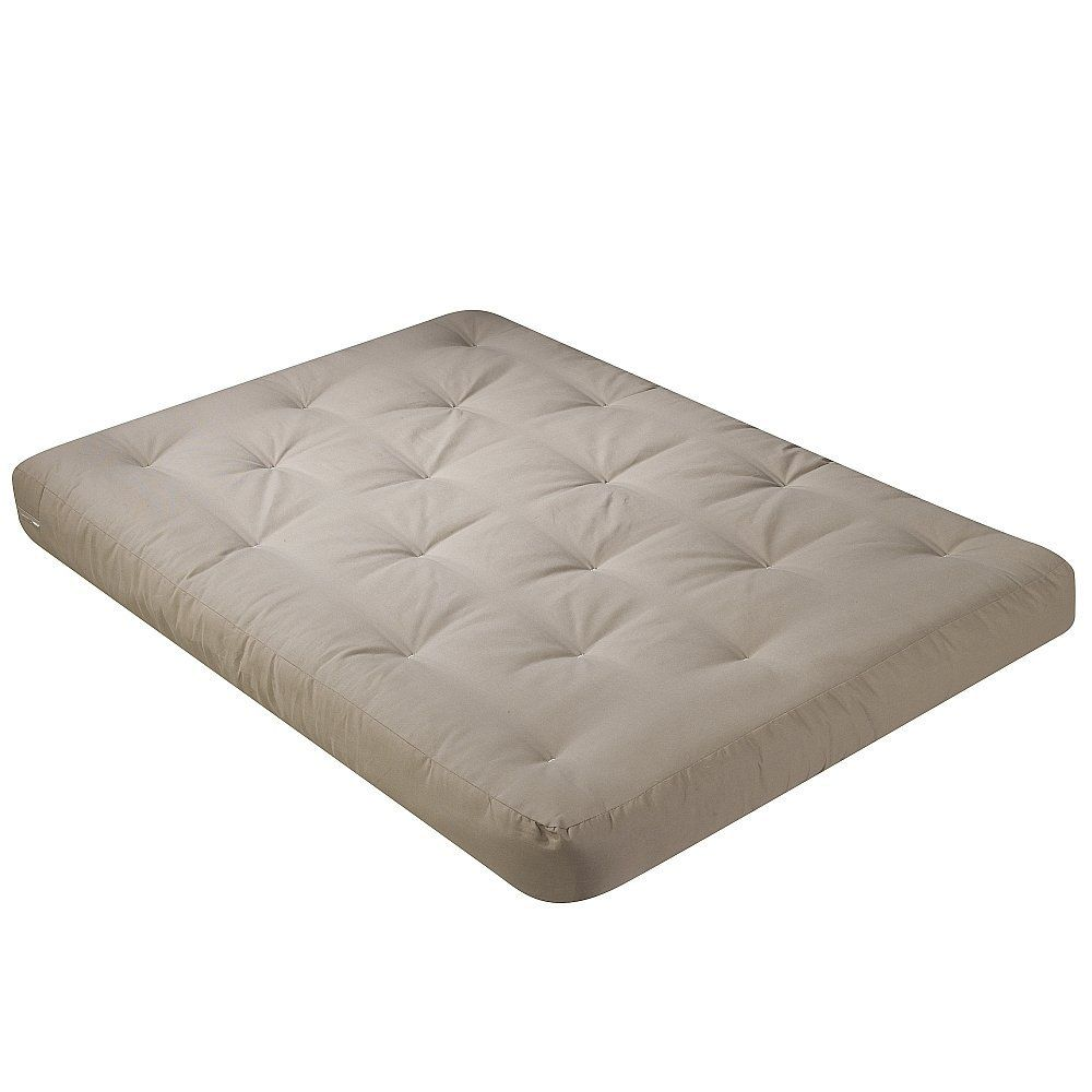 Serta Willow Duct Cotton Full Futon Mattress, Khaki