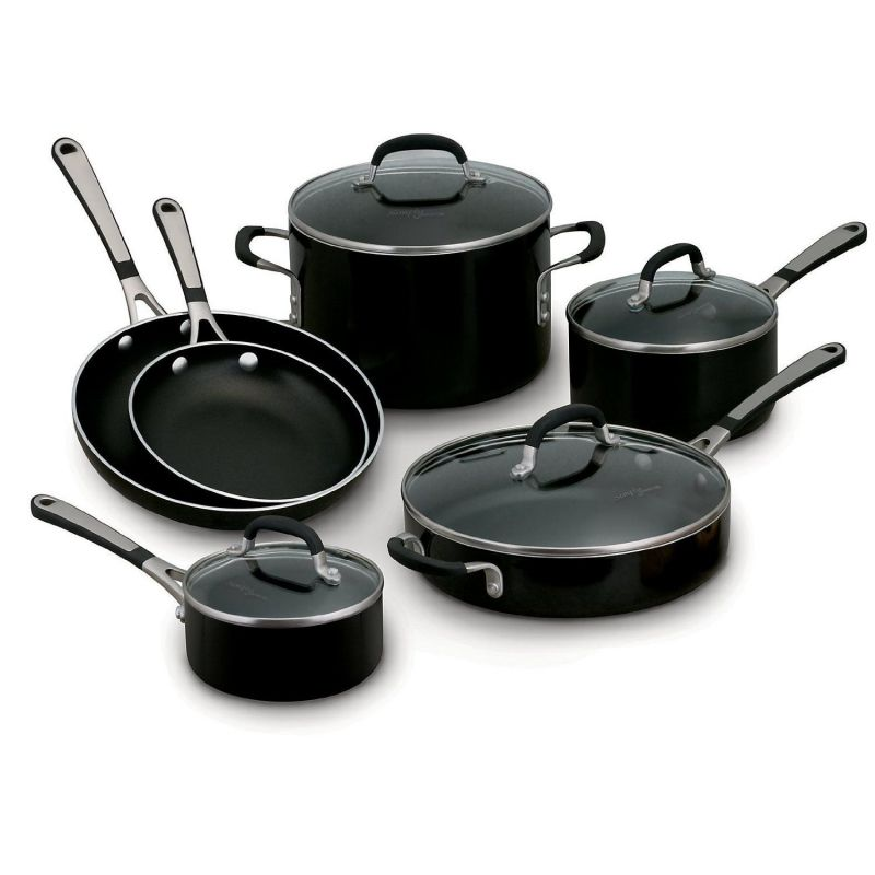 Simply Calphalon Enamel 10 Piece Set- Black