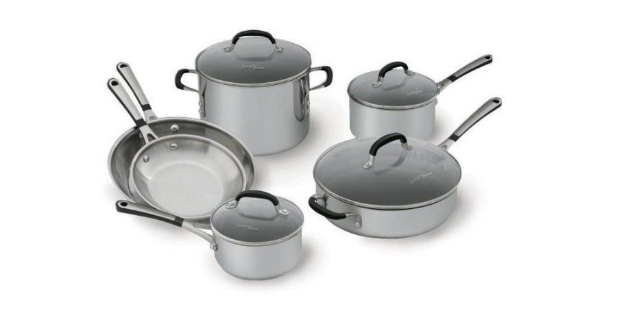 Simply Calphalon Stainless Steel 10 piece Cookware Set, 1757697