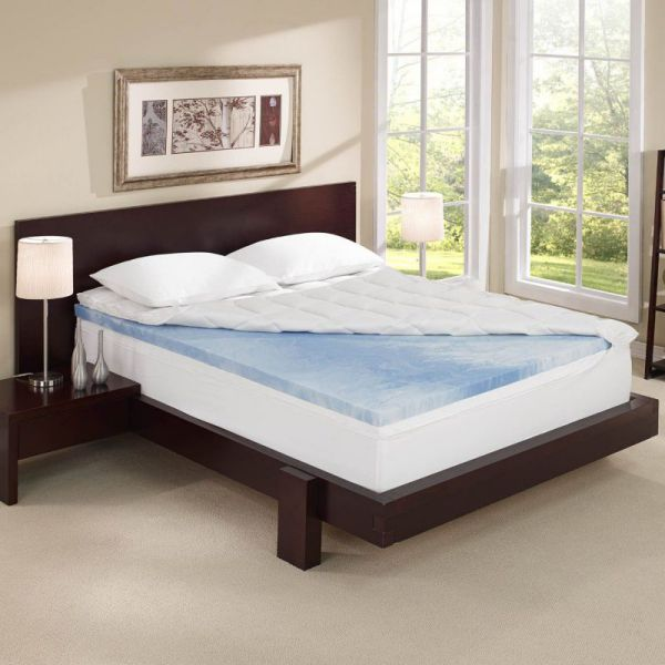 Sleep Innovations 4-Inch Dual Layer Mattress Topper - Gel Memory Foam and Plush Fiber. 10-year limited warranty. Twin Size