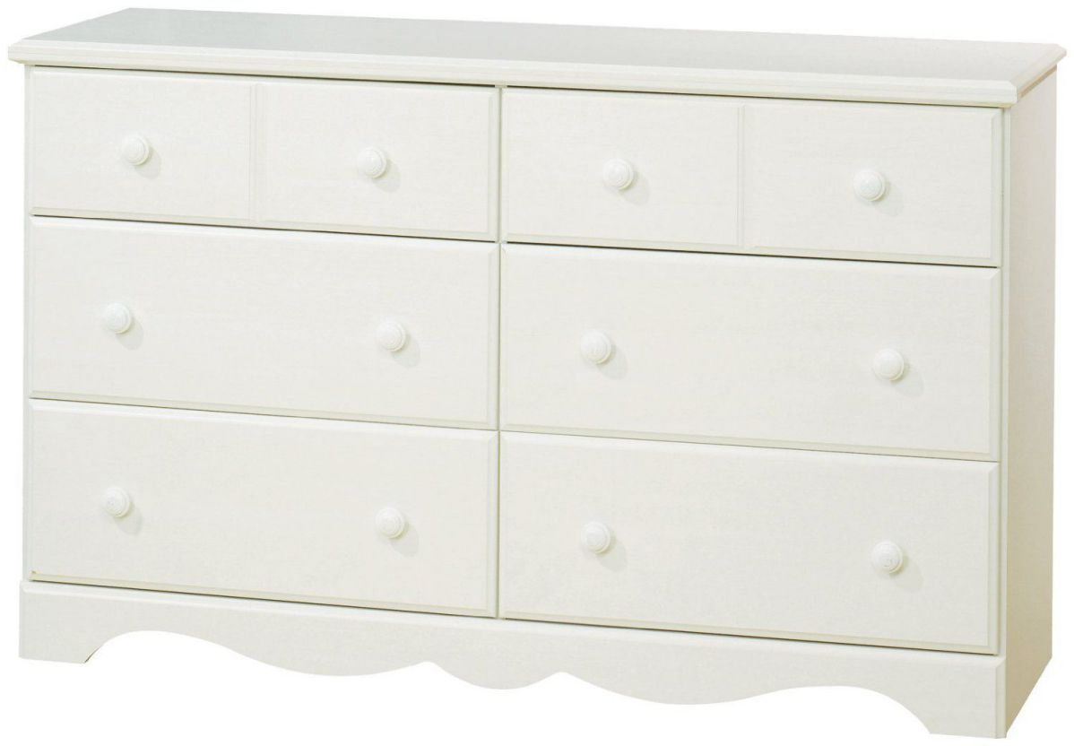 South Shore Summer Breeze Collection 6-Drawer Dresser - White Wash