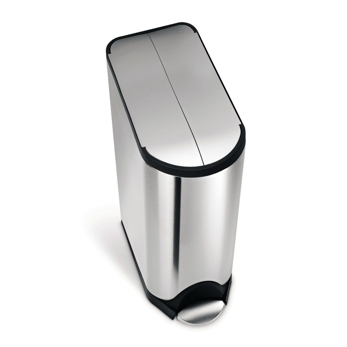simplehuman Butterfly Step Trash Can Recycler, Stainless Steel, 40 L / 10.5 Gal