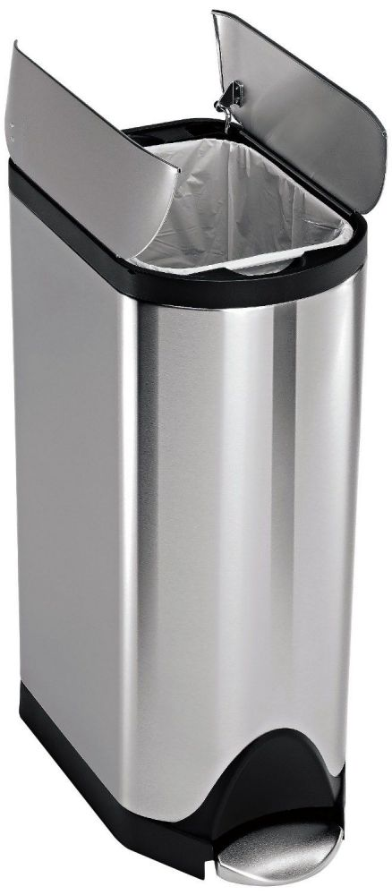 simplehuman Butterfly Step Trash Can, Stainless Steel, 30 L / 7.9 Gal