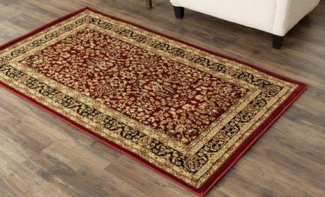 Safavieh Lyndhurst Collection LNH214A Red and Black Area Rug, 4 feet by 6 feet (4' x 6')