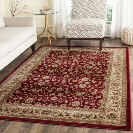 Safavieh Lyndhurst Collection LNH312A Red and Ivory Area Rug, 8 feet by 11 feet (8' x 11')