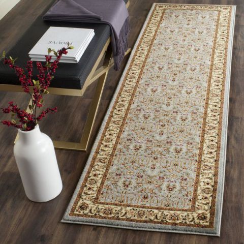 "Safavieh Lyndhurst Collection LNH312B Light Blue and Ivory Runner, 2 feet 3 inches by 9 feet (2'3"" x 9')"
