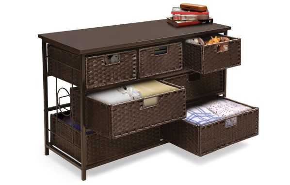 Badger Basket August Seven Storage Unit, Wide Espresso