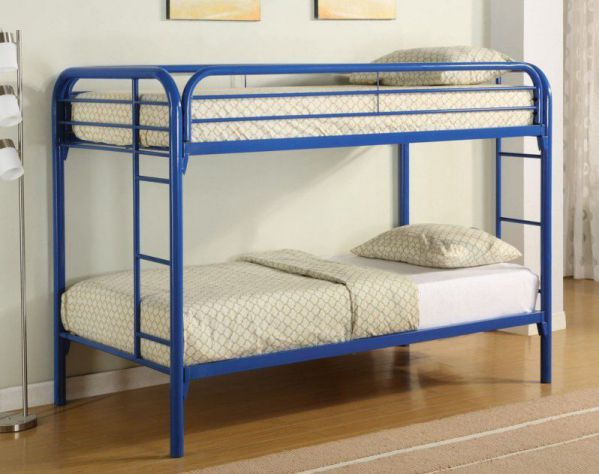 Coaster Twin/Twin Bunk Bed, Blue
