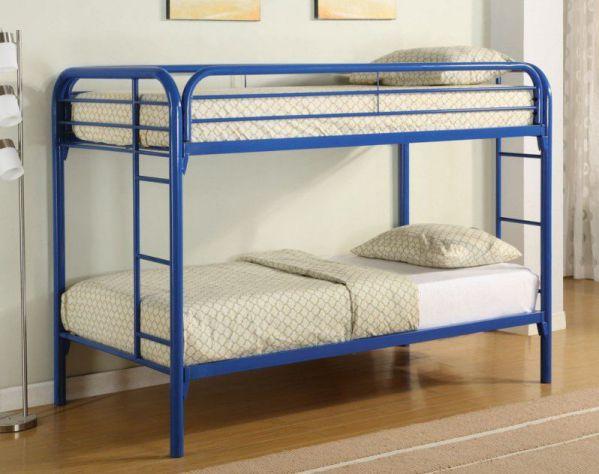 Coaster Twin/Twin Bunk Bed, Blue