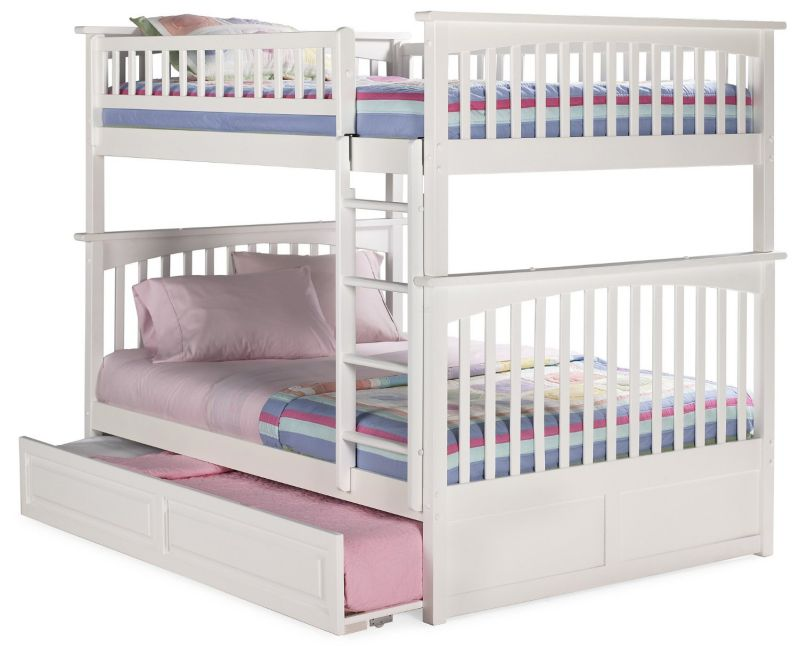 triple bunk beds for kids made by atlantic furniture. Black Bedroom Furniture Sets. Home Design Ideas