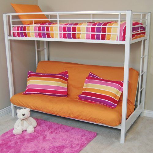 Futon Bunk Beds For Adults With Metal Construction