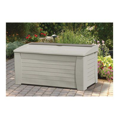 Suncast DB12000 Deck Box, 127-Gallon, White