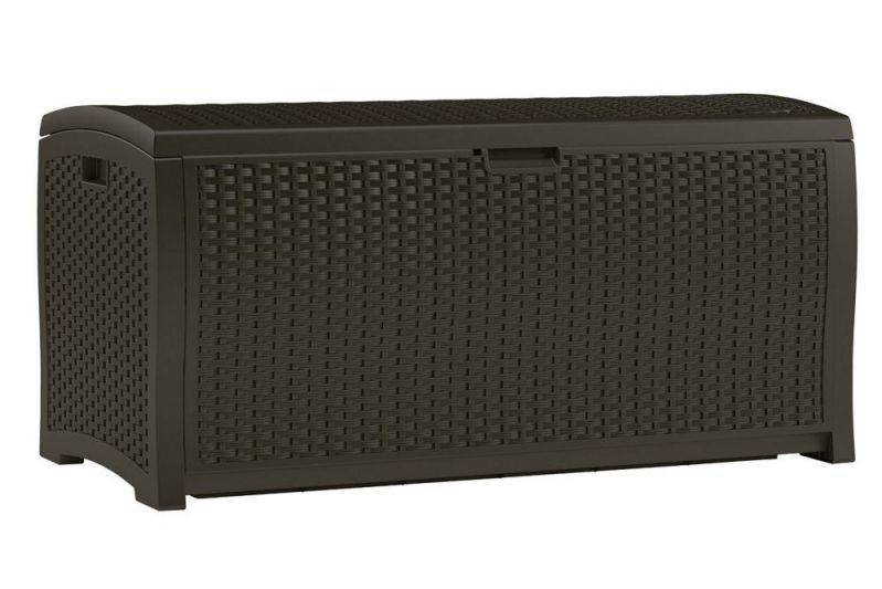 Excellent And Elegant Suncast Resin Wicker Deck Box With Seat