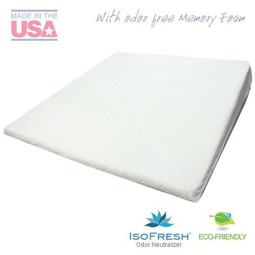 """Acid Reflux Wedge Pillow (32""""x30""""x7"""") with Memory Foam Overlay and Removable Microfiber Cover """"BIG"""" by Medslant. Dr. Recommended size for GERD and Snoring"""
