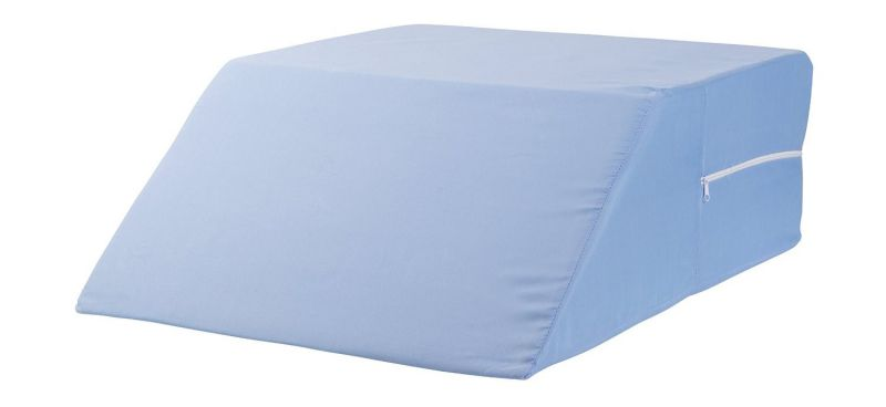 DMI Ortho Bed Wedge Supportive Foam Leg Rest Cushion Pillow for Elevating Legs, Improving Circulation and Reducing Back Pain, Blue