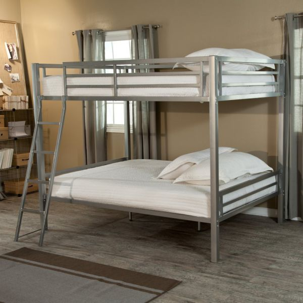 Duro Hanley Full Over Full Bunk Bed - Silver