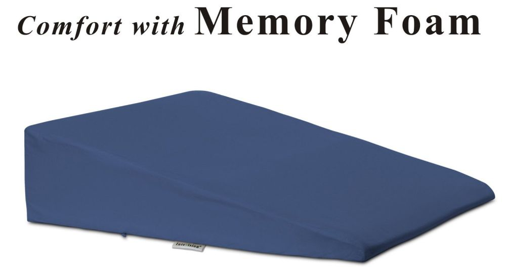Foam bed wedge pillow for better sleeping for Is higher thread count better