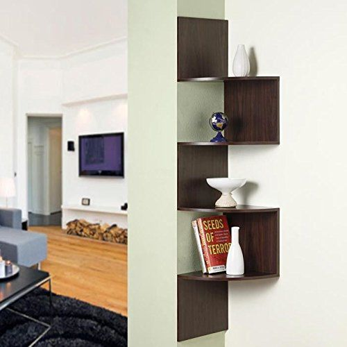 4D Concepts Hanging Corner Storage, Chocolate