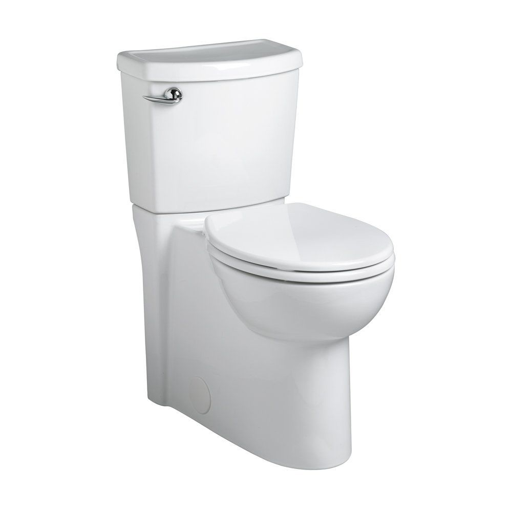 American Standard 2988.101.020 Concealed Trapway Cadet 3 Right Height Round Front Flowise 1.28 gpf Toilet with Seat, White