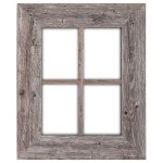 BarnwoodUSA Reclaimed Wood Window Frames - Hanger Included