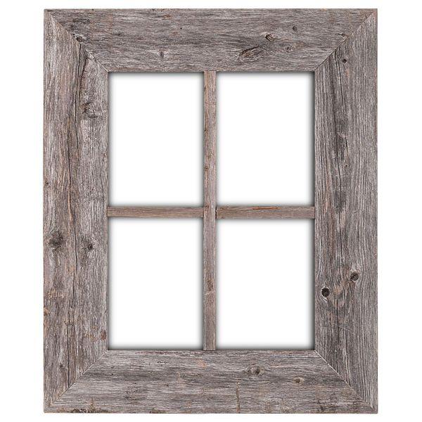BarnwoodUSA Reclaimed Wood Window Frames - Hanger Included