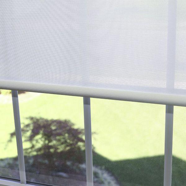 """Best Home Fashion Premium Linen Look Roller Window Shade - White - 26""""W x 64""""L"""