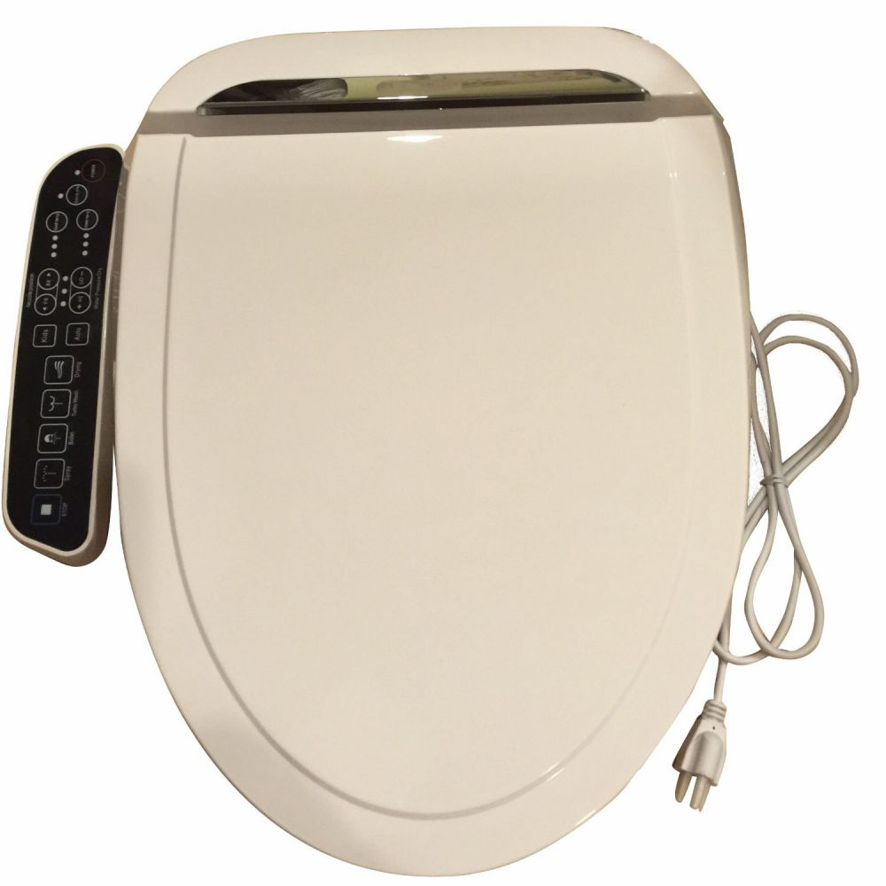 Bidet4me E-260A Elongated Electric Bidet Seat with Dryer and Deodorizer, White