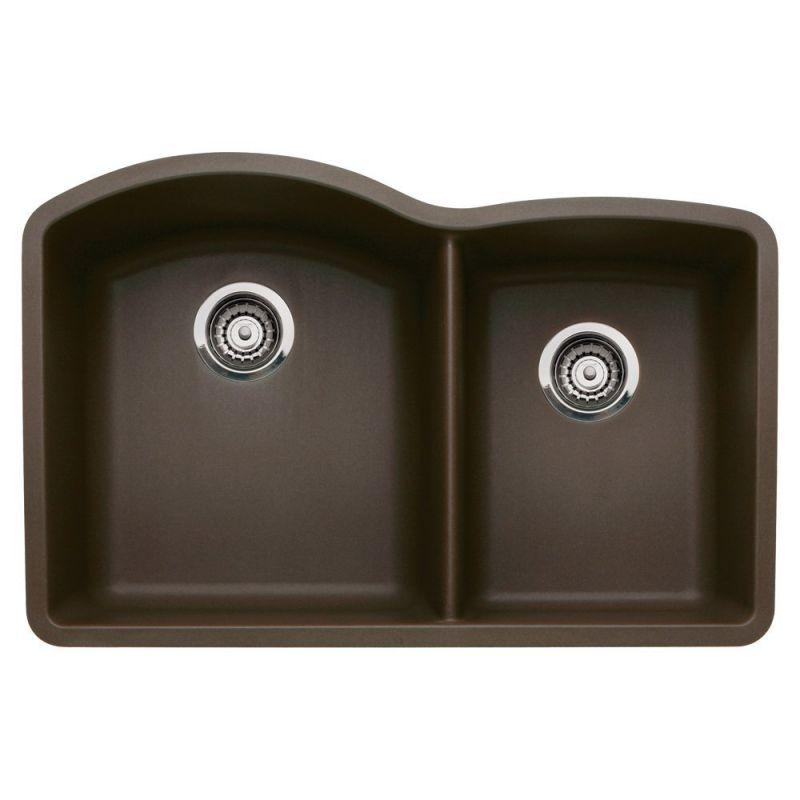 Blanco 440177 Diamond Undermount 1-3/4 Bowl Silgranit II Kitchen Sink, Cafe Brown
