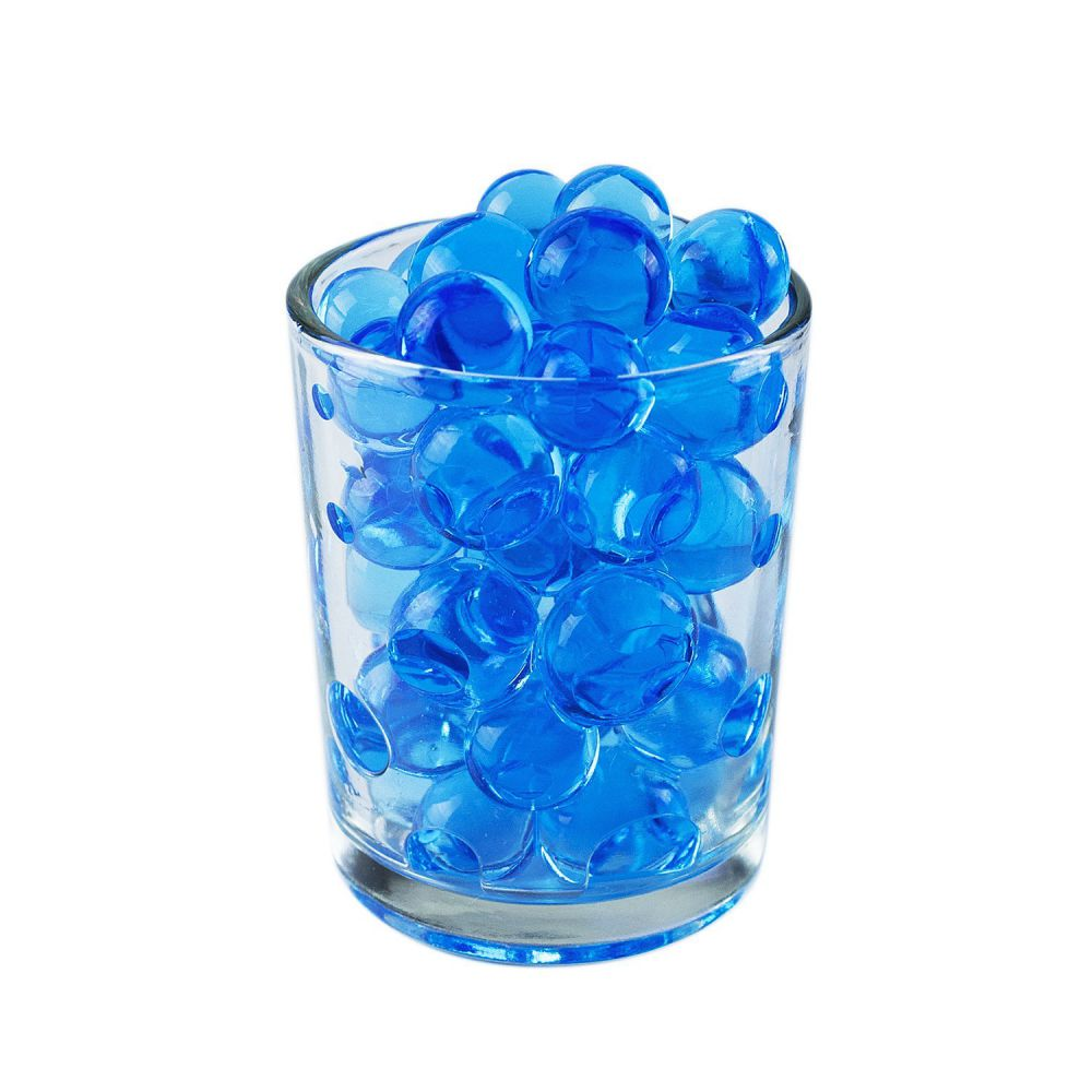 1/2 Pound Bag of Blue Water Gel Beads Pearls for Vase Filler, Candles, Wedding Centerpiece, Home Decoration, Plants, Toys, Education. Makes 6 Gallons. by Super Z Outlet®
