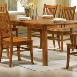Coaster 100621 Mission Style Dining Table, Burnished Oak Solid Hardwood