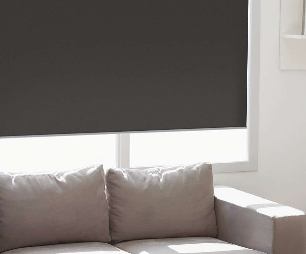 Cordless Roller Shades, 32W x 36H , Reminiscent Blackout Black