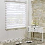 Custom Cut to Size , [Winsharp Combi Bella] Roller Zebra Fabric Shade Horizontal Window Blinds & Treatments , White , W 39 x H 47 (Inch) , 92 Inch Wide by 72 Inch Long