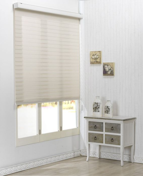 Custom Cut to Size , [Winsharp Triple 55pd , Beige , W 91 x H 64 (Inch)] Roller Sheer Fabric Shade Horizontal Window Blinds & Treatments , Maximum 91 Inch Wide by 103 Inch Long