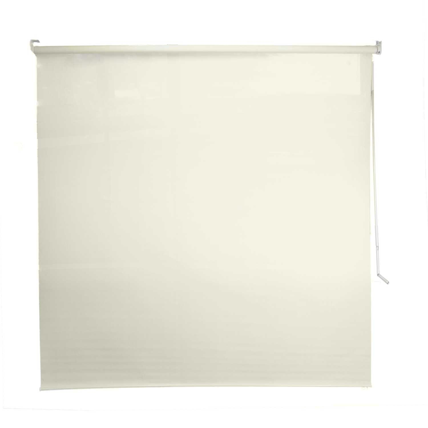 DALIX Outdoor Roller Shade Exterior Roll-Up Sun Shade Patio Outdoor in Off-White (Beige)