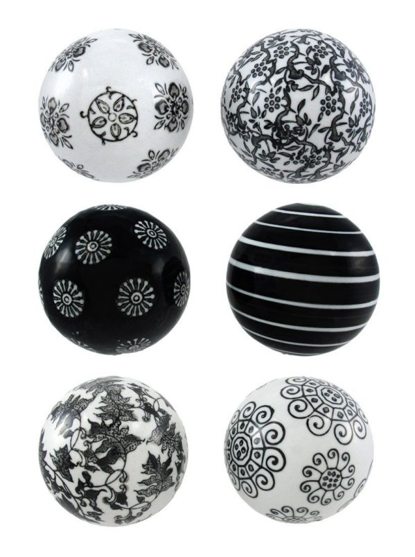 Deco 79 40777 Ceramic Ball Set of 6