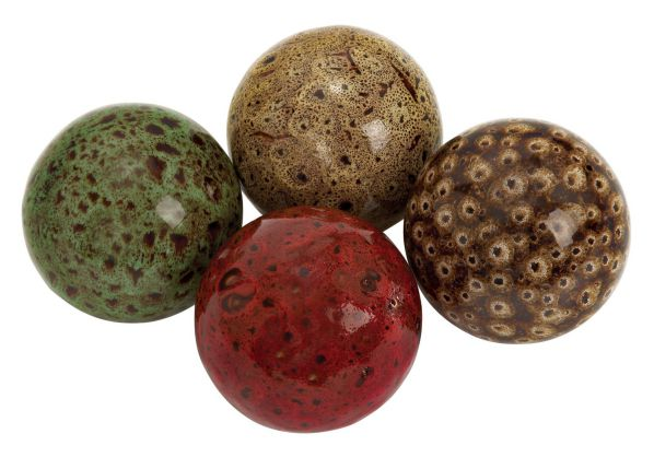 Deco 79 Ceramic Ball, 19.5 by 15-Inch, Set of 4