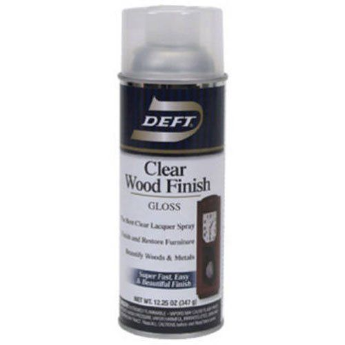 Deft Interior Clear Wood Finish Gloss Lacquer, 12.25-Ounce Aerosol Spray