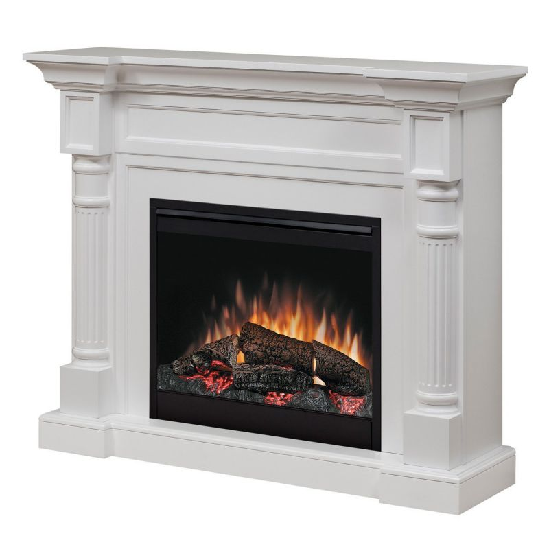 Dimplex Winston Mantel Electric Fireplace in White