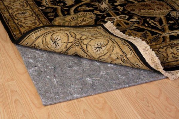 Duo-Lock Reversible Felt and Rubber Non-Slip Rug Pad, Size: 9' x 12' Rug Pad