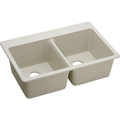 Elkay ELG3322BQ0 Gourmet E-Granite Sink, Bisque
