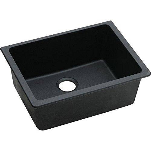 Elkay ELGU2522BK0 Gourmet E-Granite Undermount Sink, Black