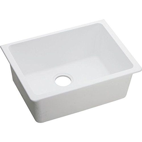 Elkay ELGU2522WH0 Gourmet E-Granite Undermount Sink, White