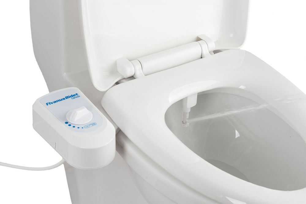 Bidet, Fivanus Toilet Attachment CB1300 Water Pressure Self Cleaning Non-Electric Mechanical Bidet Toilet Seat.