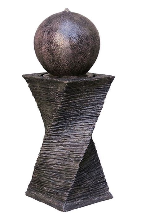 "30"" Floating Sphere Fountain: Outdoor Water Feature, Garden Fountain, Patio Fountain. Great Water Fountain for All Outdoor Spaces"