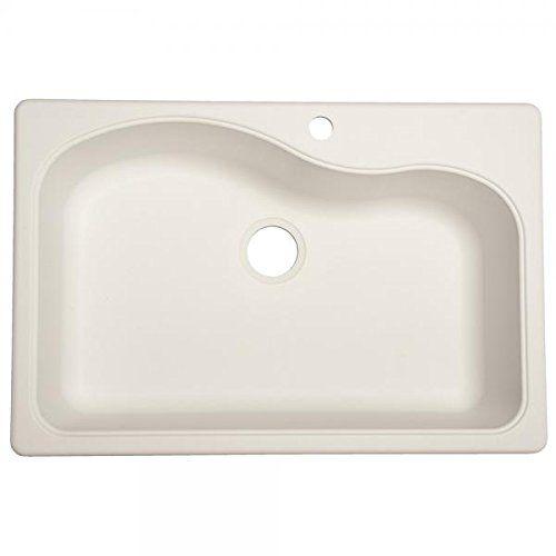 Franke USA SP3322-1 Large Single Bowl Sink Granite 9-Inch Deep, White