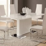 Glossy White Contemporary Dining Table