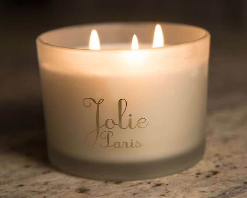 Jolie Sustainable Luxury Candle, gardenia 13 Ounce