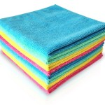 "MICROFIBER CLEANING CLOTH 14""x14"" (8 PACK) ALL PURPOSE, HIGHLY ABSORBENT, LINT-FREE, ANTIBACTERIAL, SOFT, SCRATCH FREE. Versatile Micro Fiber Cloths Use As Towels, Wipes, Washcloth, Windows & Mirror Cleaner, Drying Dishes & Polishing, For House / Hotel Supplies, Car / Auto Detailing. Color-Code Your Cleaning, And Get Your Home Eco-Friendly Without Using Harmful Detergents Or Chemicals (Just Water) And Start Saving Money Over Conventional Cleaners Today! By Dunin"