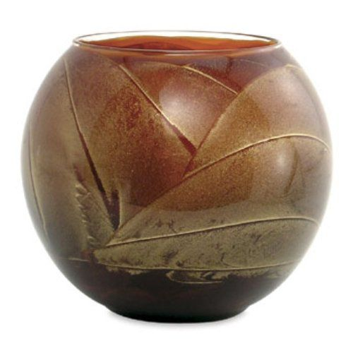 Northern Lights Candles Esque Polished Globe - 4 inch Mahogany